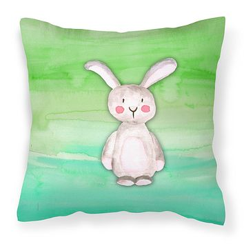 Bunny Rabbit Watercolor Fabric Decorative Pillow BB7437PW1414