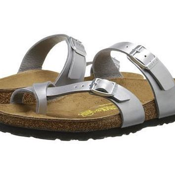 Birkenstock Mayari Sandals Silver Birko-flor - Beauty Ticks