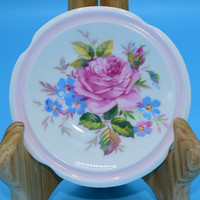 Paragon Pink Butter Pat Plate Vintage Mothers Day Gift Wedding Decor Gift for Her Spring Floral Pink Butter Pat Dish Fine Bone China