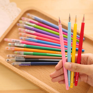 LM279 Colorful Multicolor Candy Color Rainbow Cute Gel Pen Kawaii Korean Japanese School And Office Supplies Stationery