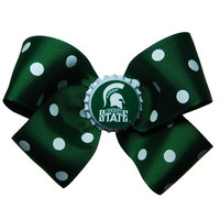 Large Michigan State Spartans Hair Bow