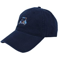 Golf Cart Twill Hat in Navy w/ Madras by Country Club Prep - FINAL SALE