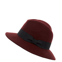 Deep Red Felt Fedora