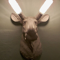 Made to Order,Moose Head Sconce,Lighting,Wall Mount