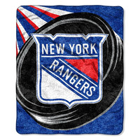 New York Rangers NHL Sherpa Throw (Puck Series) (50x60)