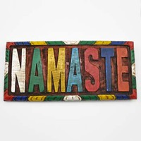 Classic Wooden 'Namaste' Sign