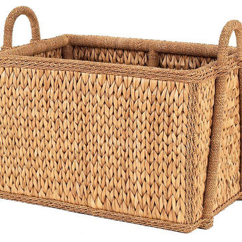 "Sweater-Weave Square Basket, 21"", Storage Baskets"