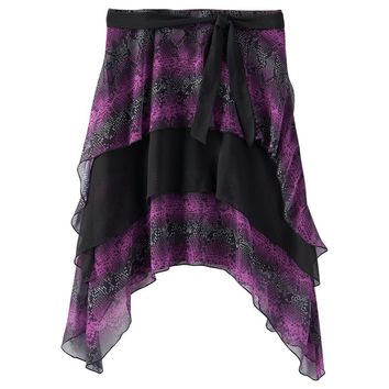 Disney D-Signed Snakeskin Tiered Skater Skirt - Girls 7-16, Size: