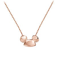 Diamond and 14K Ear Hat Mickey Mouse Ear Hat Necklace