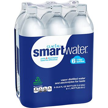 smartwater Packaged Drinking Water, 6 count