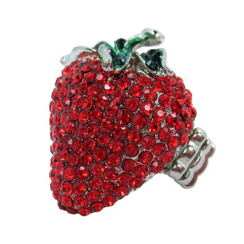 Sweet Strawberry Fruit Cocktail Ring