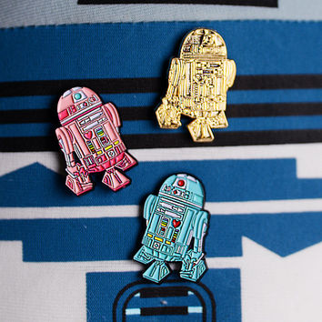 Pastel Cute R2D2, Star Wars style Soft Enamel Pin