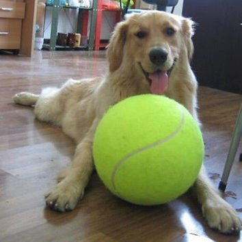 New Giant tennis ball 24 CM Pet TOY Signature MEGA JUMBO Big Tennis ball