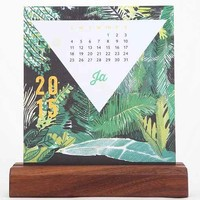 Ferme A Papier 2015 Wood Block Standing Calendar- Multi One