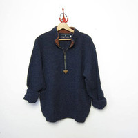 vintage pullover sweater. oversized wool sweater.