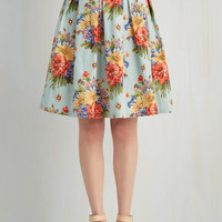 ModCloth 50s Mid-length Full Blooming Bon Vivant Skirt