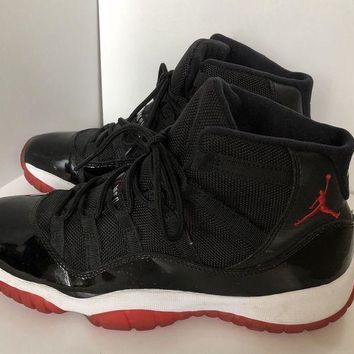 ONETOW Air Jordan Retro 11 Breds Size 6.5 Black And Red
