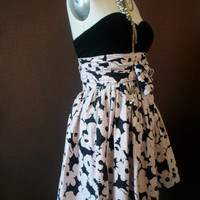one of a kind hand silk screened cotton wrap skirt by luxuryjones