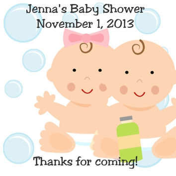Bubble Baby Shower Thank You Tags