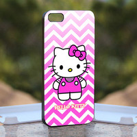 Chevron Hello Kitty  - Design available for iPhone 4 / 4S and iPhone 5 Case - black, white and clear cases