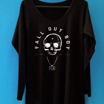 Fall out boy tshirt long sleeve unisex adult shirt women fob tshirt
