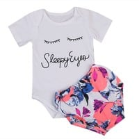 Sleepy Eyes Onesuit  and Floral Bloomers