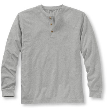 Men's Carefree Unshrinkable Tee, Traditional Fit Long-Sleeve Henley | Free Shipping at L.L.Bean