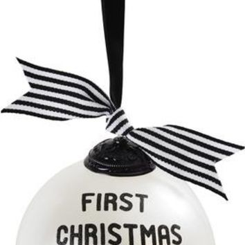First Christmas Together Christmas Glass Ornament
