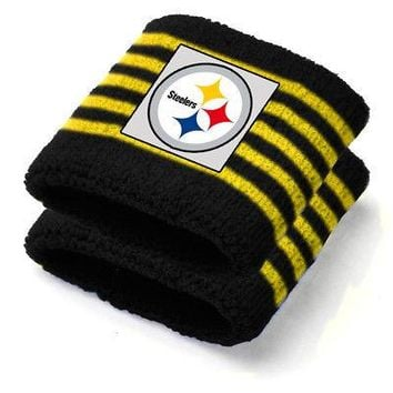 IFSB-PSGLS0269875IFS-Pittsburgh Steelers NFL Youth Wristbands