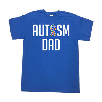Autism Awareness T Shirt Daddy TShirt Autism Advocate Autistic Support Gifts For Dad Clothes Autism Spectrum Autism Dad Mens Tee - SA769