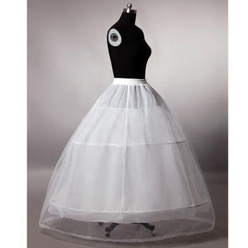 High Quality 3 Hoops Crinoline Underskirt Petticoat For Wedding Dress Bridal Gown In Stock