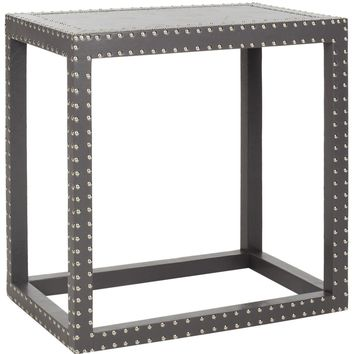 Lena End Table Grey Grey