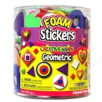 Fibre-Craft® Foam Stickers Geometric 6oz Bucket