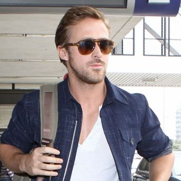 Mens Celebrity Ryan Gosling European Retro Aviator Sunglasses 8168