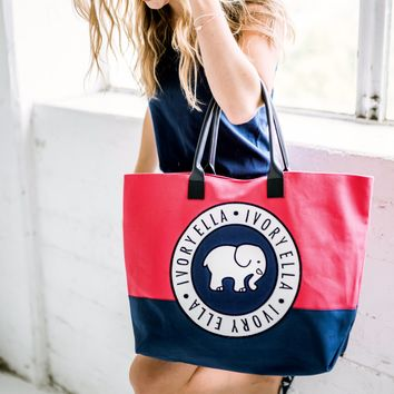 May $75 Red and Navy Surprise Beach Tote