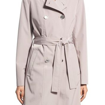 Calvin Klein Double Breasted Long Trench Coat | Nordstrom