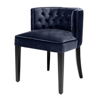 Blue Round-Back Dining Chair | Eichholtz Dearborn