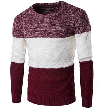 2017 New Autumn&Winter Mens Christmas Sweater Casual Slim Fit Male Clothing O-Neck Long Sleeve Knitted Pullovers Sweater Men