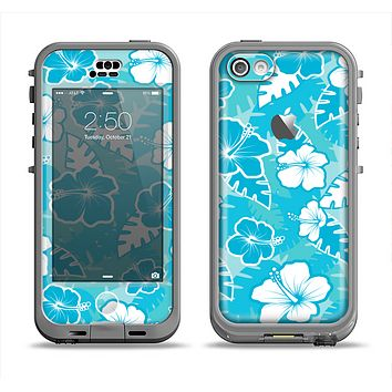 The Hawaiian Floral Pattern V4 Apple iPhone 5c LifeProof Nuud Case Skin Set