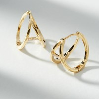 Blanche Split Hugger Hoop Earrings