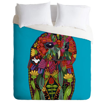 Sharon Turner Tawny Owl Duvet Cover