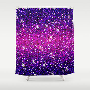 Glitters Sparkles Purple Pink Texture Shower Curtain by Tees2go