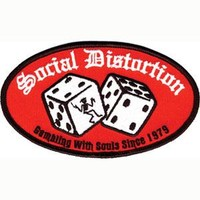 Social Distortion Men's Embroidered Patch Red