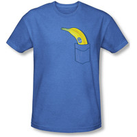 Chiquita Banana Men's  Banana Pocket T-shirt Royal