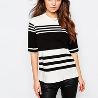 J.D.Y High Neck Striped Top at asos.com