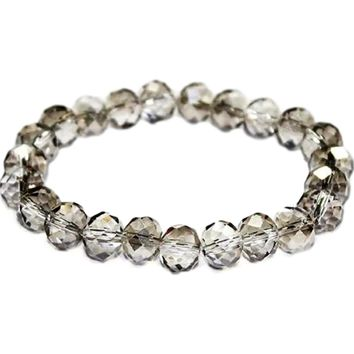 Stunning Crystal Bead Bracelet, Black Diamond