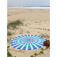 Indian Round Mandala Tapestry Throw Hippie Hippy Wall Hanging Throw Tapestries Decorative Picnic rug Beach Table Cloth Throw Bedspread