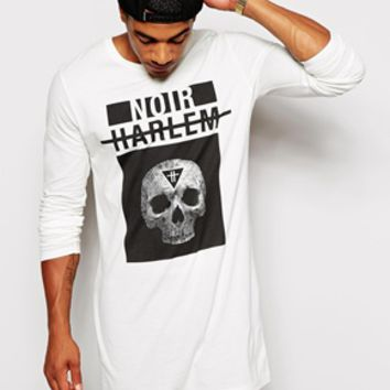 Long Sleeve T-Shirt With Skull Print