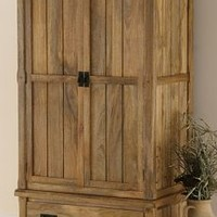 Baku Light Natural Solid Mango Double Wardrobe | Bedroom Furniture