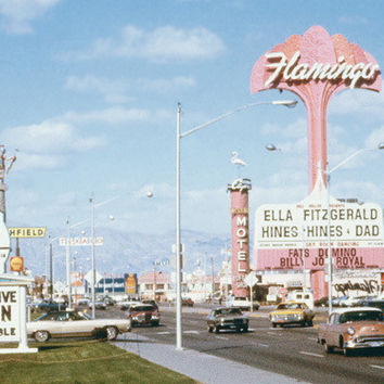 Las Vegas Strip Flamingo Hotel Fine Art Print